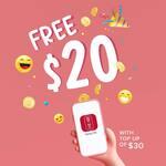 Bonus $20 When Topping Up $30 Credit at Gong Cha (via App)