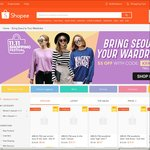 $5 off $15 Minimum Spend on 'Korean' Clothing at Shopee