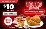 3pc Nuggets, 3pc Hot & Crispy Tenders and 3pc Original Recipe/Hot & Crispy for $10 (U.P. $20.65) at KFC