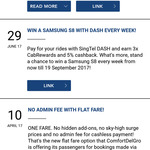 ComfortDelGro No Admin Fee with Flat Fare When Booked Via App and Cashless Payment