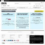 ASOS Free Express Shipping with $250 Spend + Free Returns for Singapore