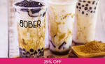 Brown Sugar Boba Fresh Milk Tea for $2.30 (U.P. $3.80) at Bober Tea via Fave (previously Groupon)
