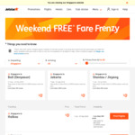 Jetstar Free Fare Frenzy: Sanya/Haikou at only $126 onwards return