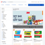 $5 off ($40 Min Spend) or $10 off ($60 Min Spend) on 3M Participating Products at FairPrice On