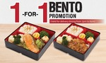 1 for 1 Bento at umisushi Delivery (2pm to 8pm)