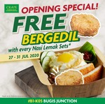 Free Bergedil with Every Nasi Lemak Set from Crave