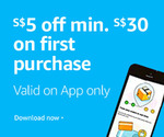 $5 off ($30 Min Spend) on First App Purchase at Amazon SG