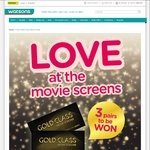 Win 1 of 3 Pairs of Golden Village Gold Class Movie Vouchers from Watsons