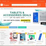 $30 off $200 Minimum Spend on Tablets & Accessories Deals at Shopee