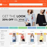 "20% Off (Capped at $7) at ""Get The Look"" Category on Shopee"