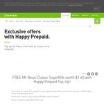 Free Mr Bean Classic Soya Milk (U.P. $1.60) with $10 Top Up to StarHub Happy Prepaid SIM Card at Any SAM Kiosk