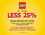 25% off Lego + Additional 10% off Store-Wide for Isetan Cardmembers @ Isetan