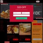 $20 off at Baja Fresh Mexican Fresh (Online) [$50 Minimum Spend]