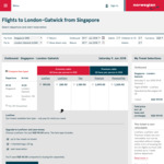 Singapore to London Return $528.80 (or $199.90 One Way to London) via Norwegian Shuttle (March - June)