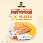 Free Plate of Salmon Mentai at Genki Sushi (Vivocity)
