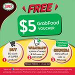 Free $5 GrabFood Voucher with Every $12 Purchase of SUPER Products
