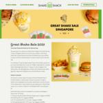Salted Egg Milkshake $2 (Milkshake U.P. $6.90) @ Shake Shack