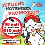 Students: 2 Hours Karaoke at Karaoke Manekineko with Free Flow Soft Drinks and Tidbits for $8 (Weekdays) $10 (Weekends)