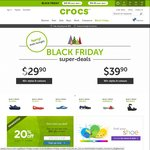 Crocs Black Friday Sale - $29.90 and $39.90 Shoes (Save Up to $60)