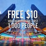 Free $10 Suntec City Mall Vouchers from Mediacorp Channel 5 (Sunday 18th November)