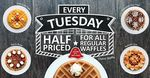 50% off Regular Waffles Every Tuesday at Geláre