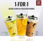 Toast Box 1-for-1 on 3 New Tea Flavours (2 Drinks for $3.80) 3-5pm 28 Feb