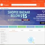 $5 off Items in the Shopee Bazaar Section ($15 Minimum Spend)
