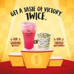 1 for 1 Bandung McFizz and Chendol McFlurry at McDonald's