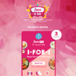 1 for 1 Mega San Sushi or Salad at Maki-San with FavePay Payment via Fave App