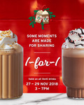 1 for 1 Venti Sized Handcrafted Beverages at Starbucks (Tuesday 27th November to Thursday 29th November, 3pm to 7pm)