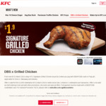 Signature Grilled Chicken for $1.90 at KFC (DBS/POSB Cards)