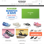 $10 off ($50 Min Spend), $20 off ($50 Min Spend) or $30 off ($60 Min Spend) Selected Styles at Crocs
