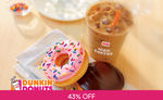 2 Donuts & 1 Regular Cold Brew Coffee or Iced Coffee for $1 (U.P. $8.60) at Dunkin' Donuts via Fave [New Customers]