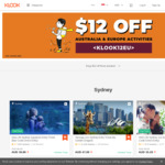 $12 off Australia and Europe Klook Activities (Min. Spend $150)