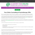 Free Online Counselling from Acadtherapy