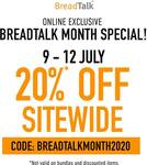 20% Sitewide Special at BreadTalk Online Store
