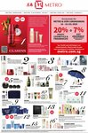20% Rebate on Cosmetics & Fragrances at METRO (Metro & UOB Cardmembers)