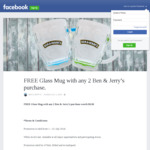 FREE Glass Mug with Any 2 Ben & Jerry's Purchase