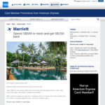 Spend $500 or more, get $150 back (Up to 10 times) @ Marriot Hotels (American Express Cardholders)