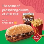 Prosperity Chicken Burger Extra Value Meal for $5.90 (U.P. $8.30) at McDonald's via GrabFood
