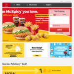 McDonald's McDelivery Free with Purchase: Hash Brown, Large Fries or Oreo McFlurry