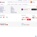 $5 off ($60 Min Spend) or $100 off ($1200 Min Spend Sitewide at Lazada [12am to 2am]