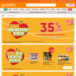 35% off Over 100 Brands of Vitamins at Guardian