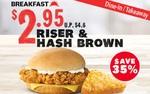$2.95 Riser & Hash Brown at KFC