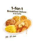 1 for 1 Breakfast Deluxe A La Carte at McDonald's (via App)