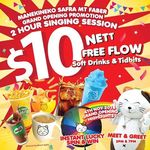 $10 for 2 Hours of Karaoke and Free Flow Soft Drinks and Tidbits at Manekineko SAFRA Mt Faber