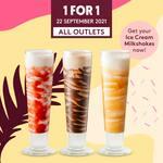 1 for 1 Ice Cream Milkshakes at Häagen-Dazs