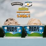 1 for 1 Ice Cream at Ben & Jerry's (313@Somerset, VivoCity & Dempsey) [Facebook Required]