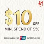 $10 off ($50 Minimum Spend) at Sō Ramen (UnionPay Cardmembers)