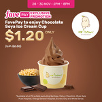 Soya Ice Cream Cup for $1.20 (U.P. $2.30) with FavePay (2pm to 8pm)